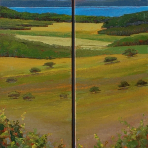 Overlooking the Bay � Diptych